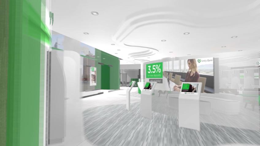 neuroscience VR bank kiosks