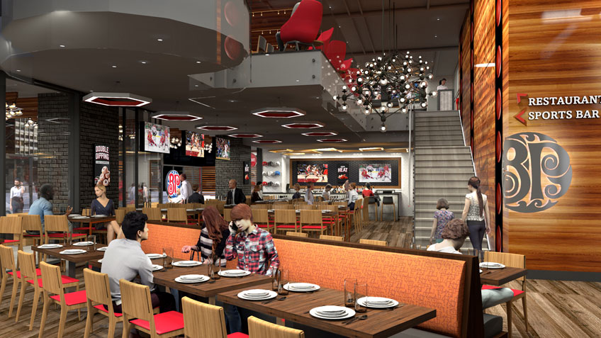 Boston Pizza's new restaurant bar concept