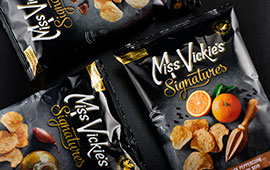Packaging for Miss Vickie's gourmet chips