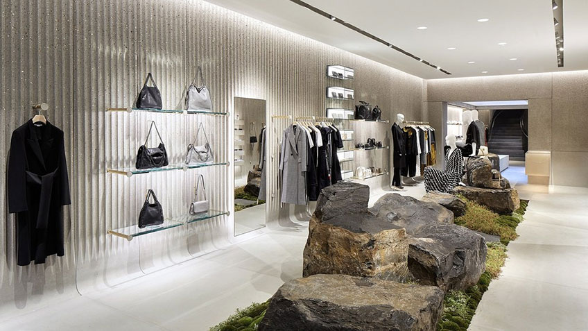 Interior of a Stella McCartney store