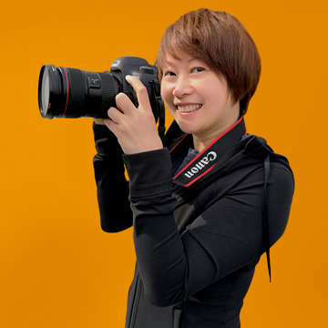 Jenny Lu Orange Background