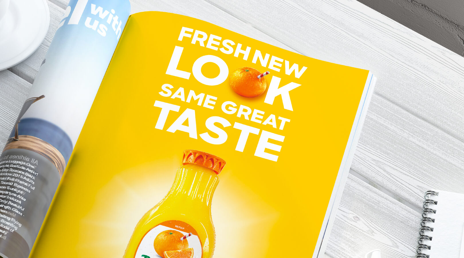 Tropicana Fresh New Look Same Great Taste Magazine Advertisement