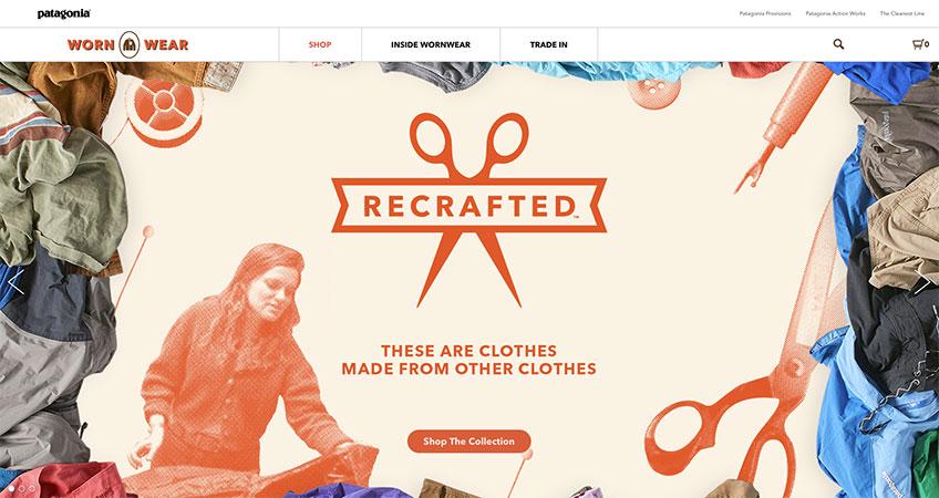 Patagonia wornwear website