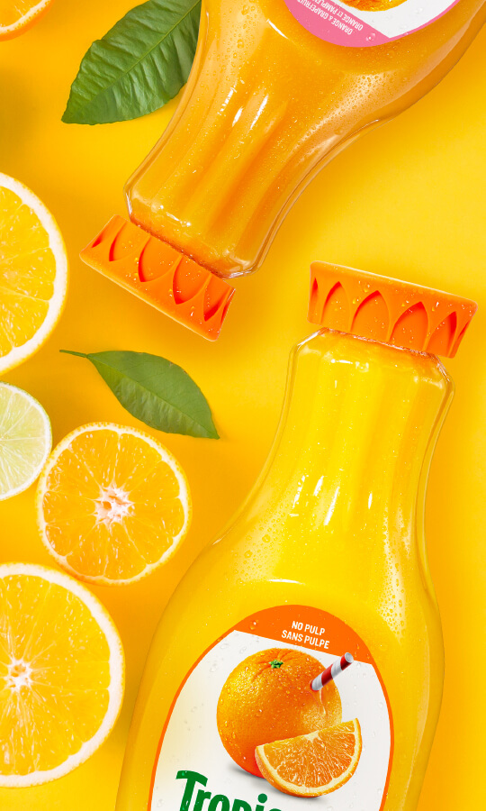 Tropicana packaging on bottle