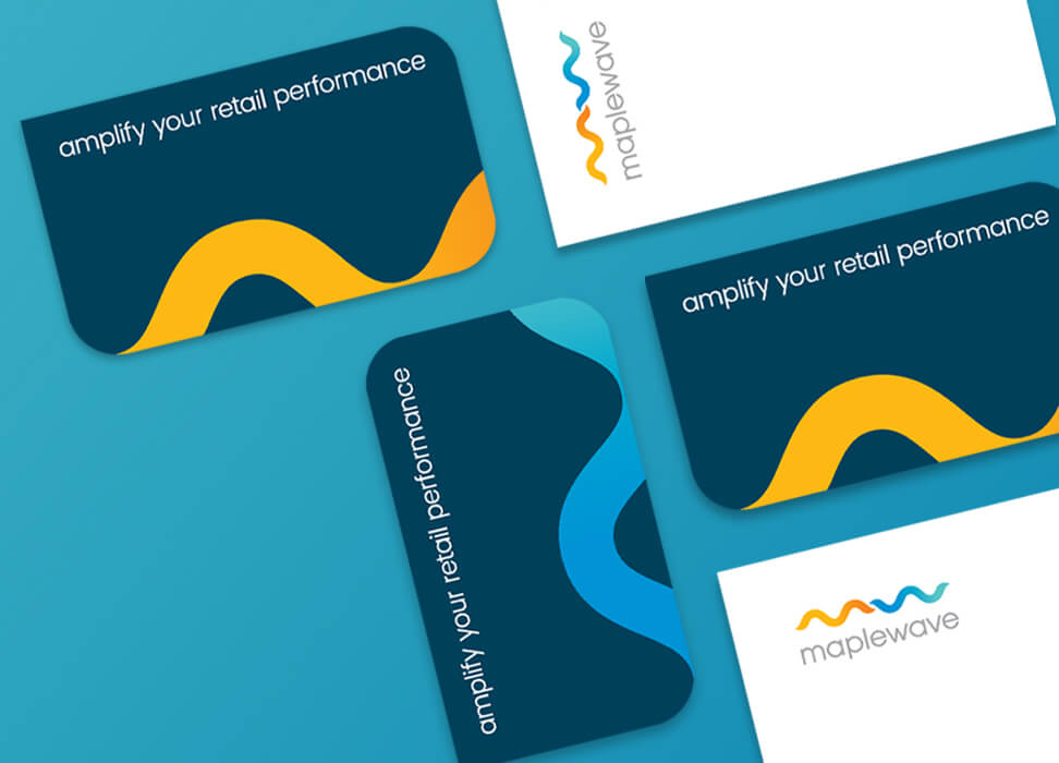 Letterhead and business cards from Maplewave rebrand