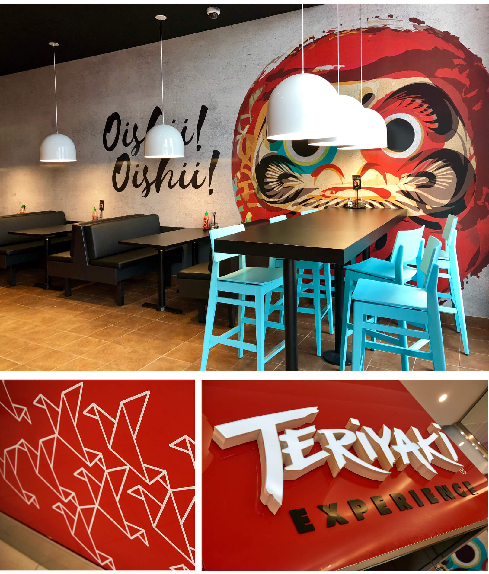 images of the Teriyaki Experience restaurant